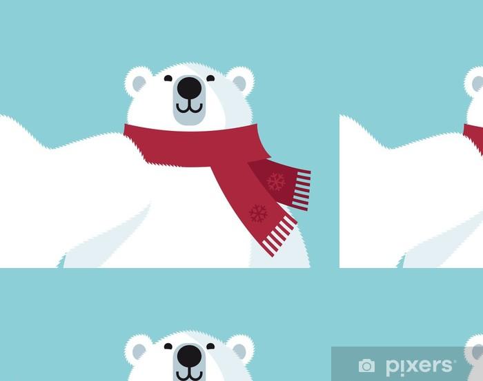 Vinyltapet Polar Bear selfie - Internationella högtider