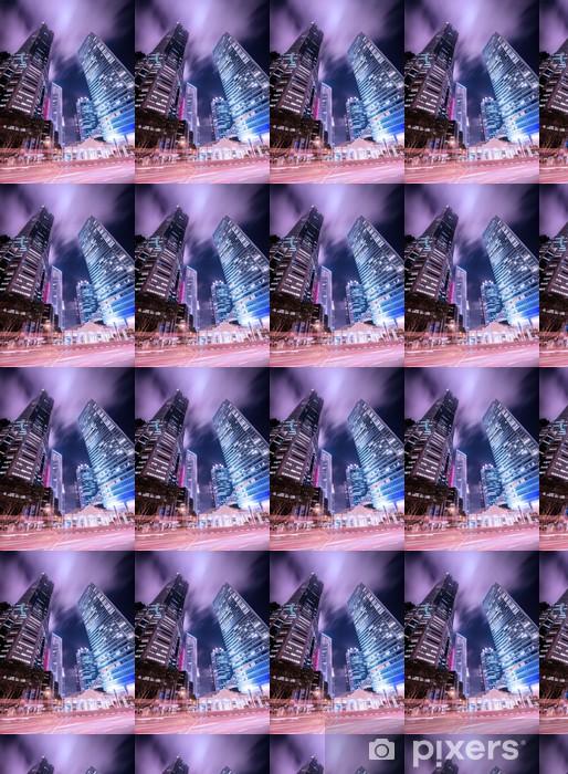 Vinyltapete nach Maß Skysrapers in Singapur während der Nachtstunden - Sonstige