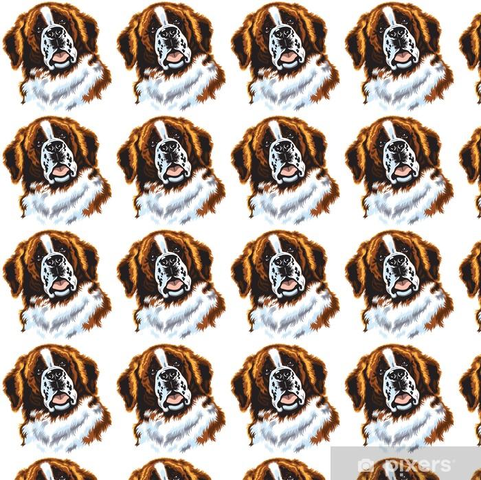 Vinylová tapeta na míru Svatý Bernard pes - Savci