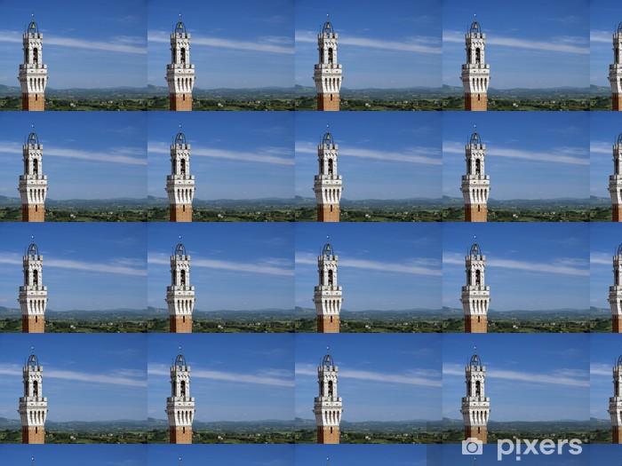Tapeta na wymiar winylowa Wieża budynek publiczny, Siena, Toskania, Włochy - Europa