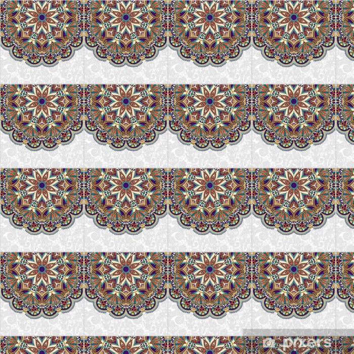 Tapeta na wymiar winylowa Kwiatowy wzór w ukraiński okrągły stylu etnicznym orientalnym ci? - Style