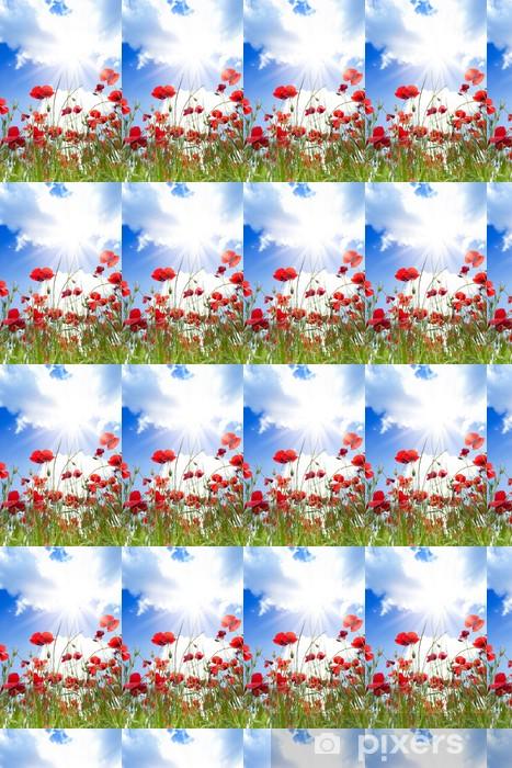 Vinyl behang, op maat gemaakt Close-up van papavers bloemen - Thema's