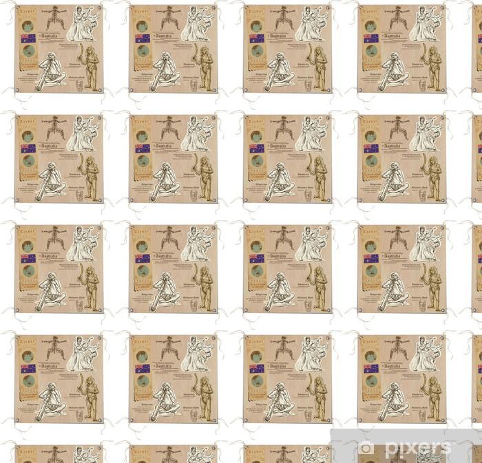 Tapeta na wymiar winylowa Australia - Obrazki z życia, Aborygenów - Oceania