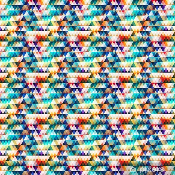 Lyst trekant sømløs mønster med grunge effekt Personlige vinyltapet -