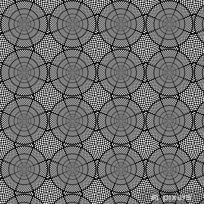 Tapeta na wymiar winylowa Ilustracja czarno-białe szachy tle 2 - Tematy