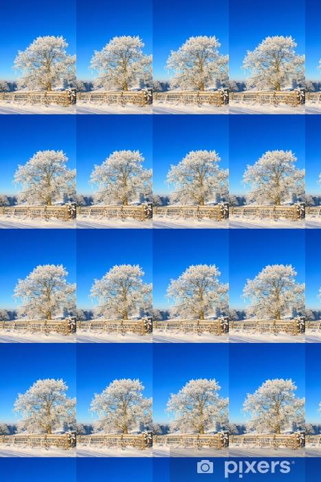 Vinyltapete nach Maß Oak Tree im Winter - Jahreszeiten