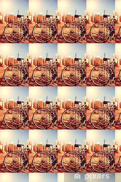 Papier peint vinyle sur mesure Vélos et vue Manhattan - Thèmes