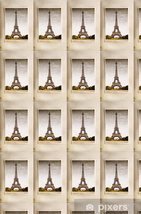 Tapeta na wymiar winylowa Archiwalne pocztówki z Wieży Eiffla - Miasta europejskie