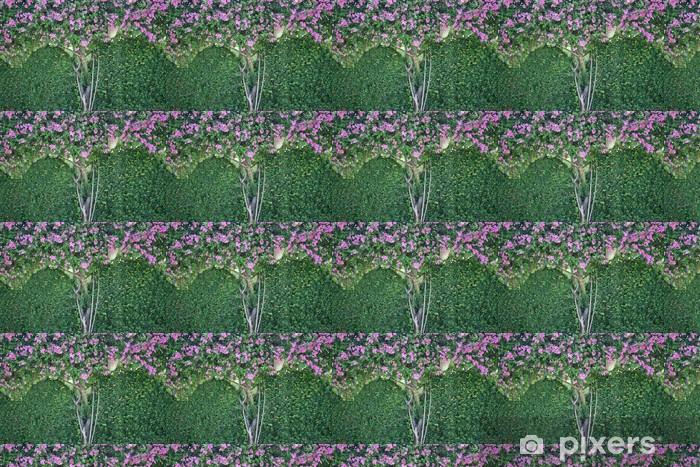 Tapeta na wymiar winylowa Kwiatów i liści na betonową ścianę - Kwiaty