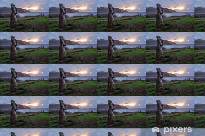 Tapeta na wymiar winylowa Świt na Wyspa Wielkanocna. Rapa Nui. Wyspa Wielkanocna - Ameryka
