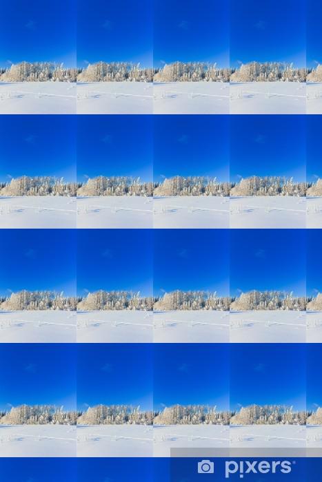 Vinyltapete nach Maß Joyful Happy Winter - Natur und Wildnis