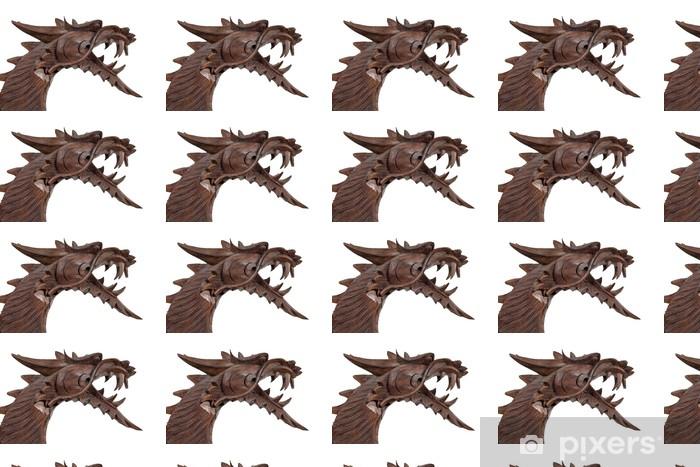 Tapeta na wymiar winylowa Rzeźba smoka drewna - Sztuka i twórczość