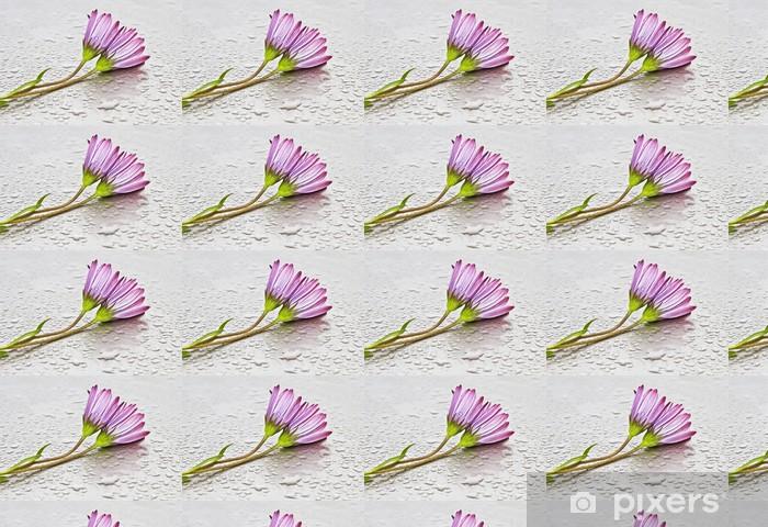 Papier peint vinyle sur mesure Margaritas mojadas - Fleurs