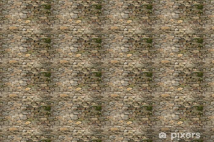 Papier peint vinyle sur mesure Stone wall texture - Industrie lourde