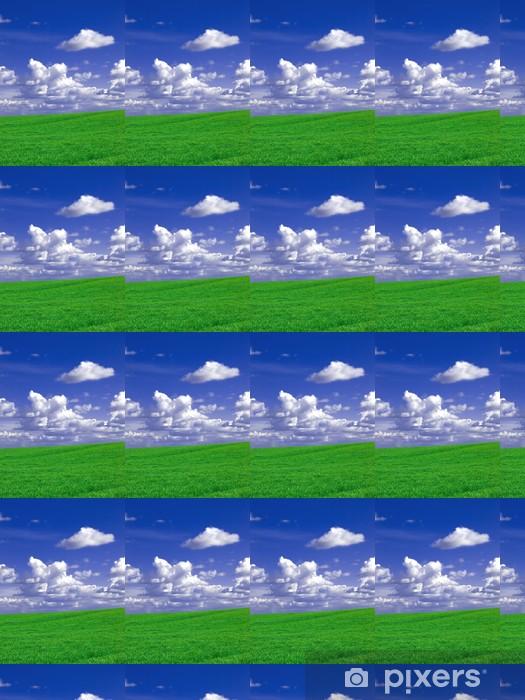 Vinylová tapeta na míru Zelená pole a přeháňky modrou oblohu - Nebe