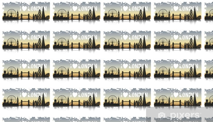 Vinylová tapeta na míru LONDÝN GRUNGE - Evropská města