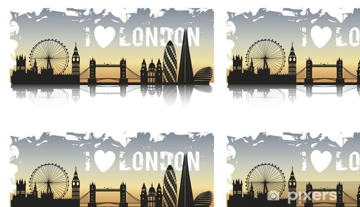 Vinylová Tapeta LONDÝN GRUNGE - Evropská města