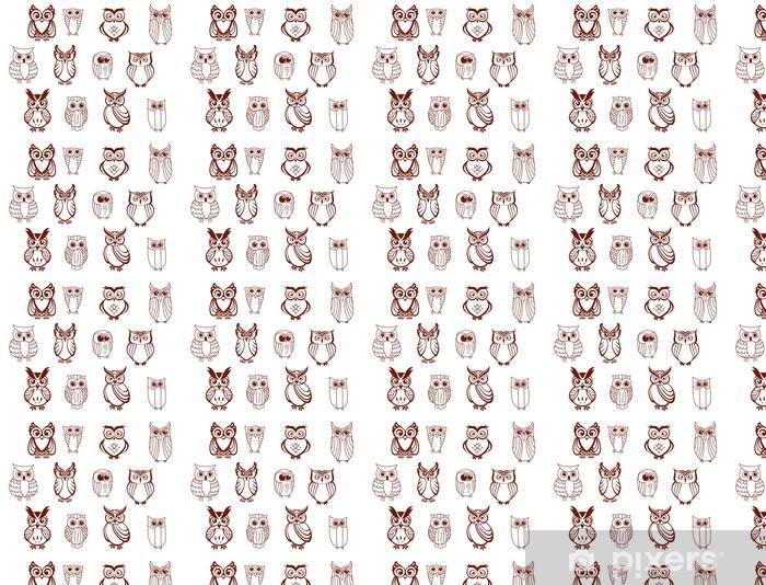 Papier peint vinyle sur mesure Ensemble de hiboux vectorielles - Oiseaux