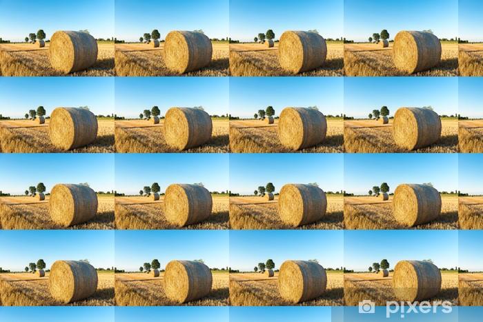 Papier peint vinyle sur mesure Les balles rondes de paille - Saisons