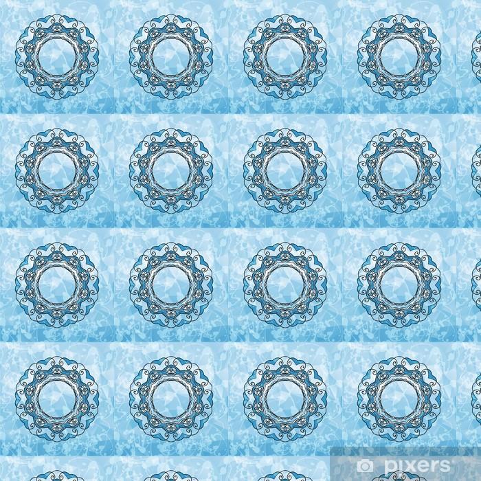 Papel pintado estándar a medida Mandala Modelo redondo con copyspace en un centro. Abstracto - Conceptos de negocios
