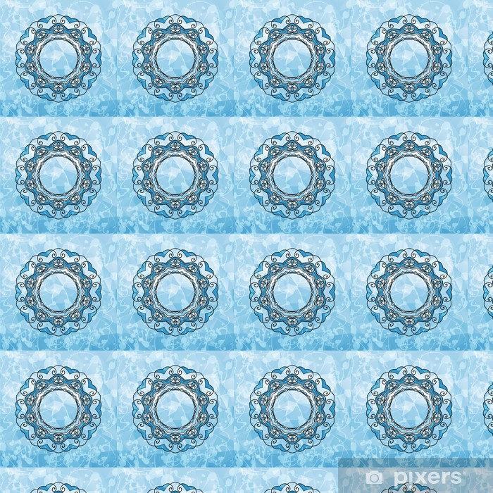 Round Pattern Mandala with copyspace in a center. Abstract Vinyl custom-made wallpaper - Business Concepts