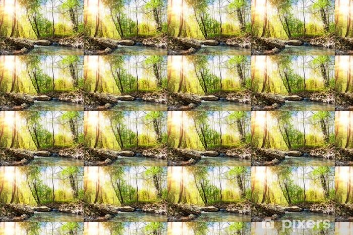 Beautiful summer landscape Vinyl custom-made wallpaper - Seasons