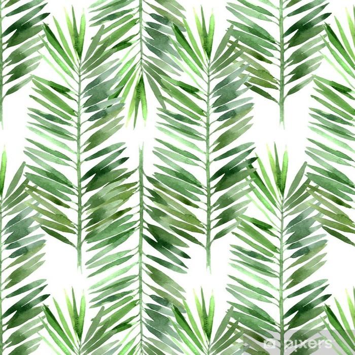 Tapeta winylowa Akwarela palma liści bez szwu - Rośliny i kwiaty