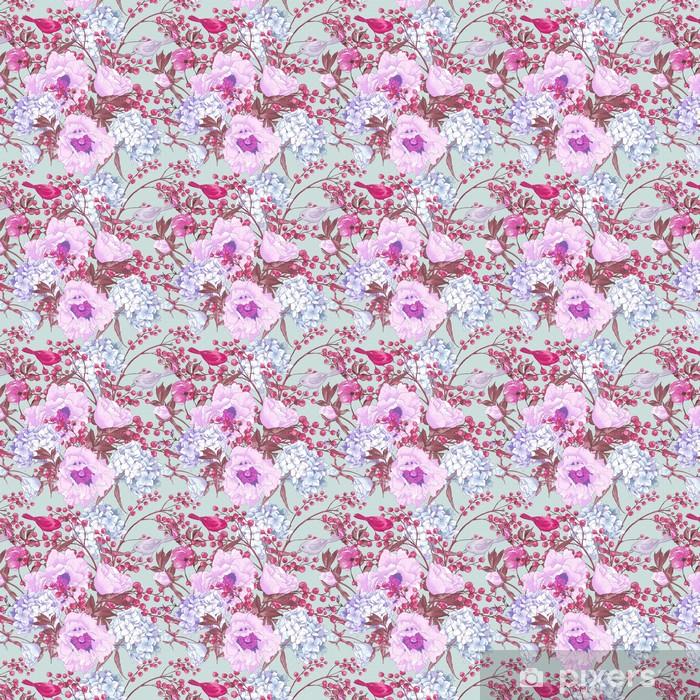 Papier peint vinyle sur mesure Floral Doux printemps Seamless Background - Fleurs