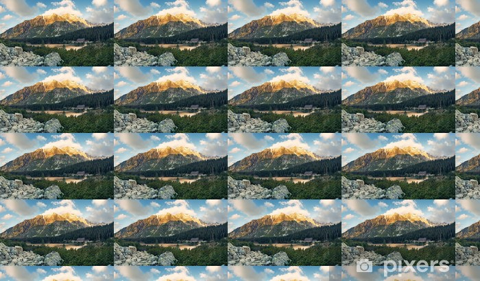 Papel pintado estándar a medida Lago de montaña en alto Tatras Popradske - Europa