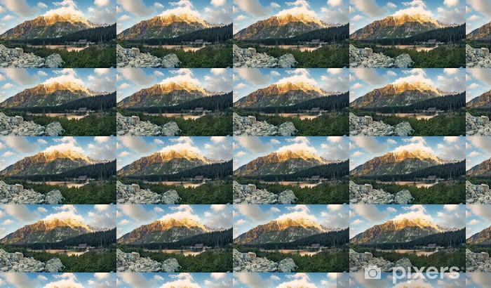 Papier peint vinyle sur mesure Montagne lac Popradske dans les Hautes Tatras - Europe