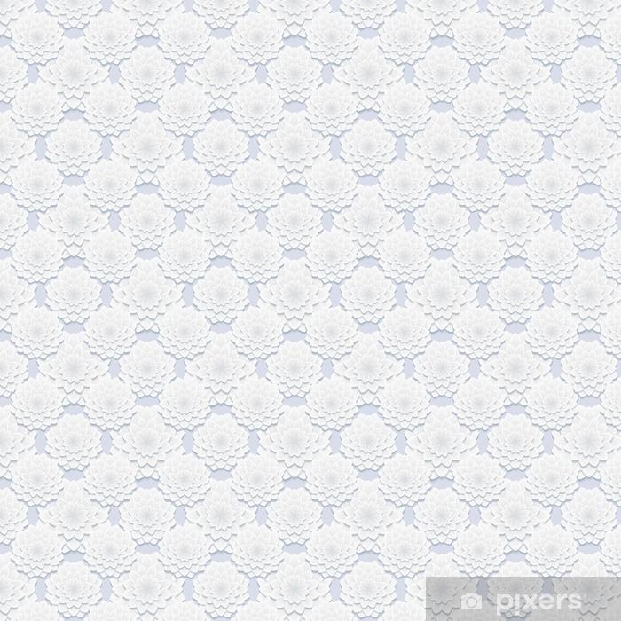 Vinyltapete nach Maß Schöne graue nahtlose Muster mit Blumen - Grafische Elemente