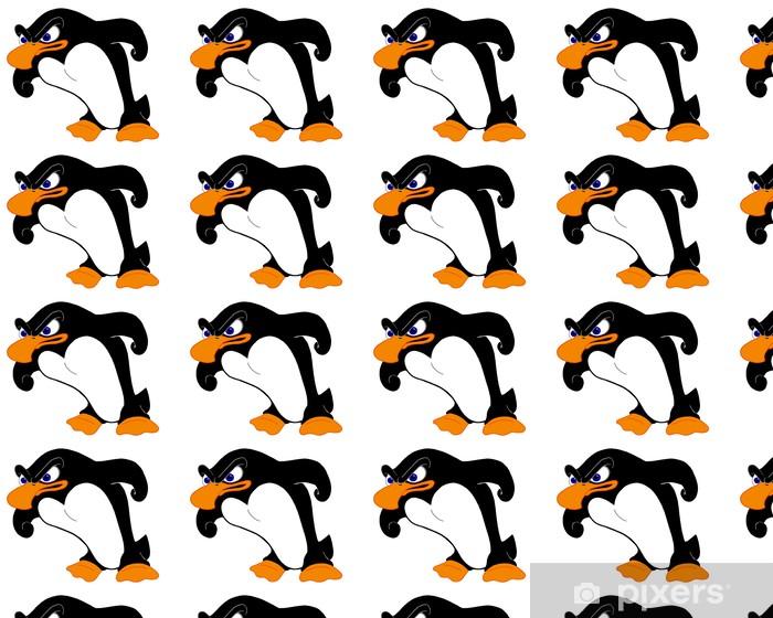 Papier peint vinyle sur mesure Angry pingouin - Oiseaux