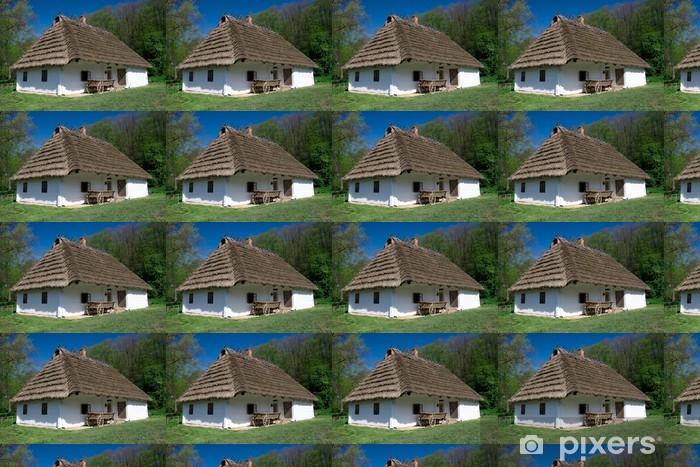 Carta da parati in vinile su misura Bianco vecchia capanna - Europa