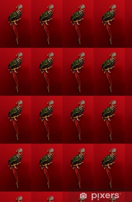 Tapeta na wymiar winylowa Antyczny papuga broszka / pin badge - Moda