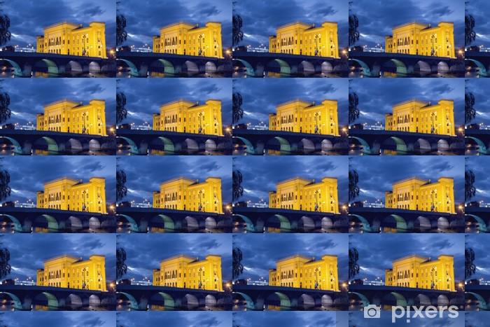 Papier peint vinyle sur mesure Bibliothèque nationale, à Sarajevo - Monuments