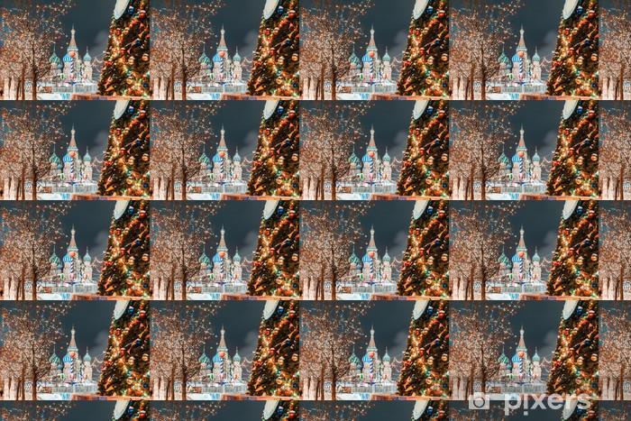 Tapeta na wymiar winylowa Bombki choinkowe na gałęzi drzew na Placu Czerwonym - Święta międzynarodowe