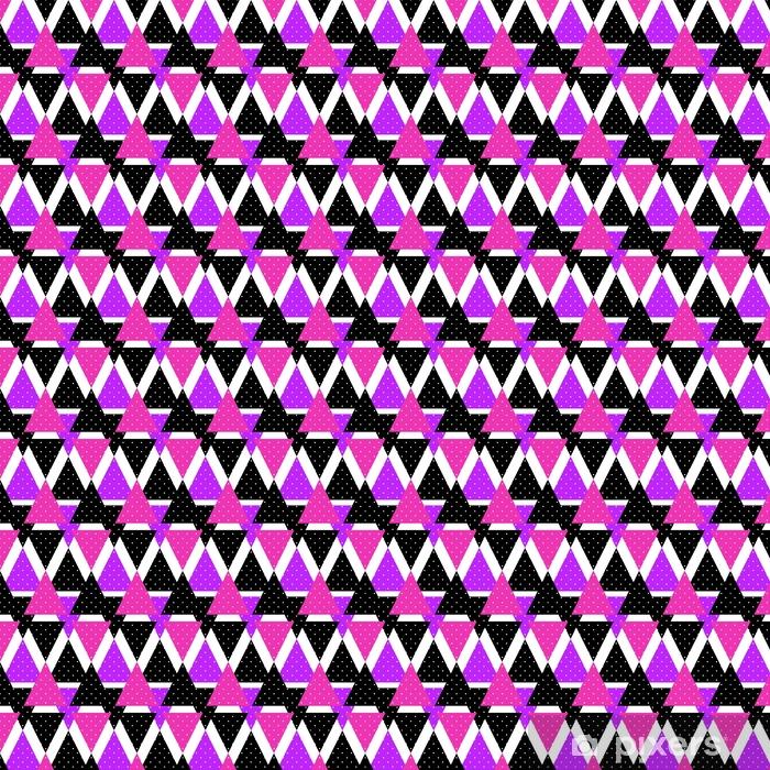 Vinyl behang, op maat gemaakt Naadloze driehoek heldere patroon achtergrond geometrische abstracte t - Grafische Bronnen