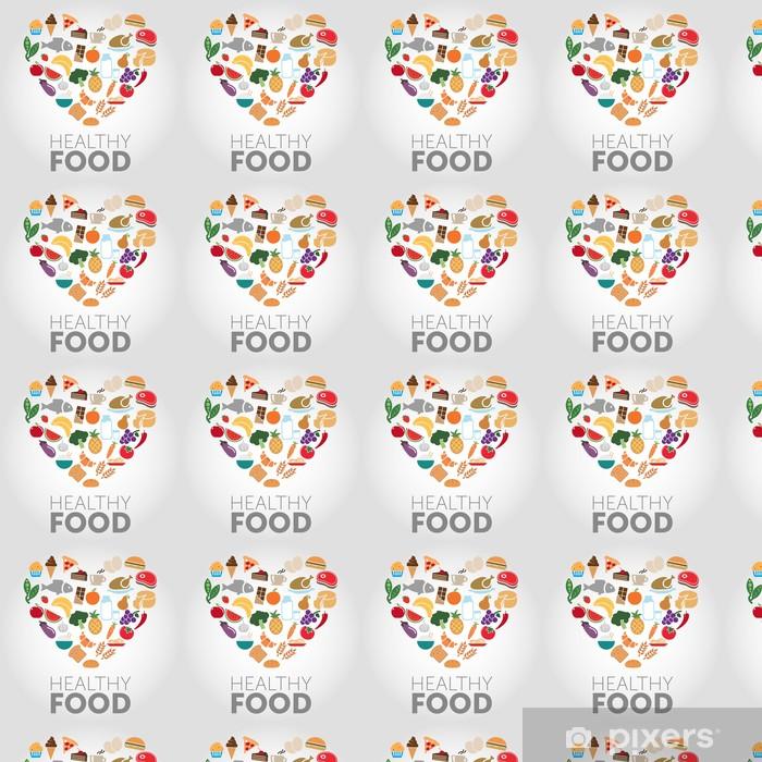Healthy Food Vinyl custom-made wallpaper - Backgrounds