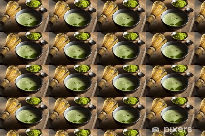 Papier peint vinyle sur mesure Organic thé vert Matcha - Repas