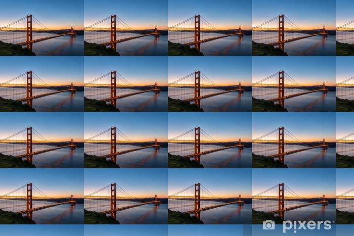 Tapeta na wymiar winylowa Golden Gate Bridge at Dawn - Infrastruktura