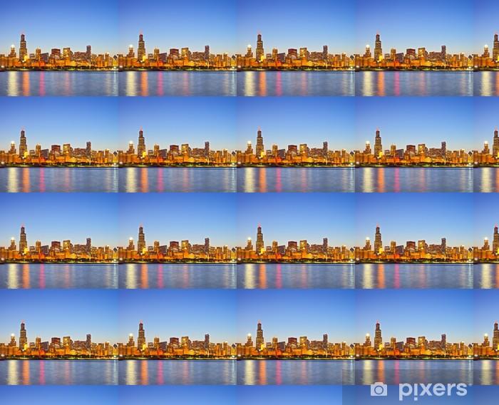 Papier peint vinyle sur mesure Chicago Illinois, panorama des toits de la ville - Amérique