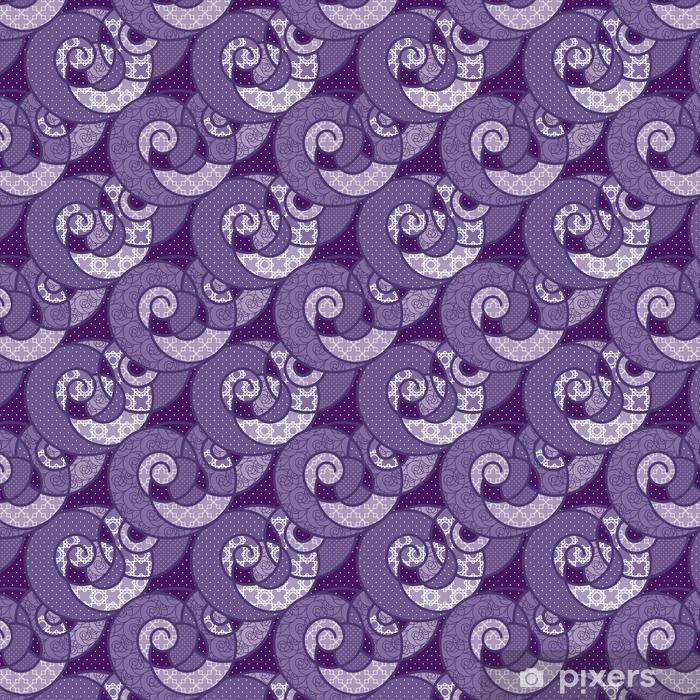 Vinyl behang, op maat gemaakt Naadloze patroon geometrische stijlvolle achtergrond retro kleuren textu - Grafische Bronnen