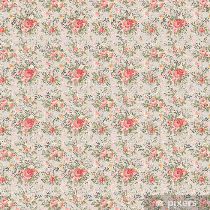Tapeta na wymiar winylowa Jednolite kwiatowy wzór z różami - Kwiaty