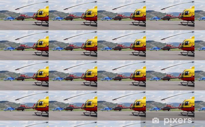 Tapeta na wymiar winylowa Trzy helikoptery - Transport powietrzny