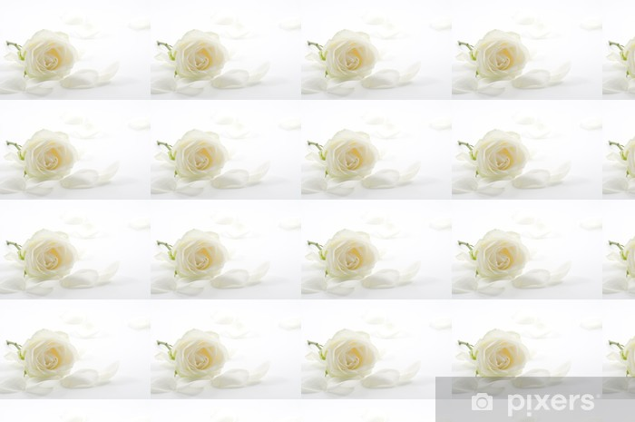 White rose with petals close-up Vinyl custom-made wallpaper - Flowers