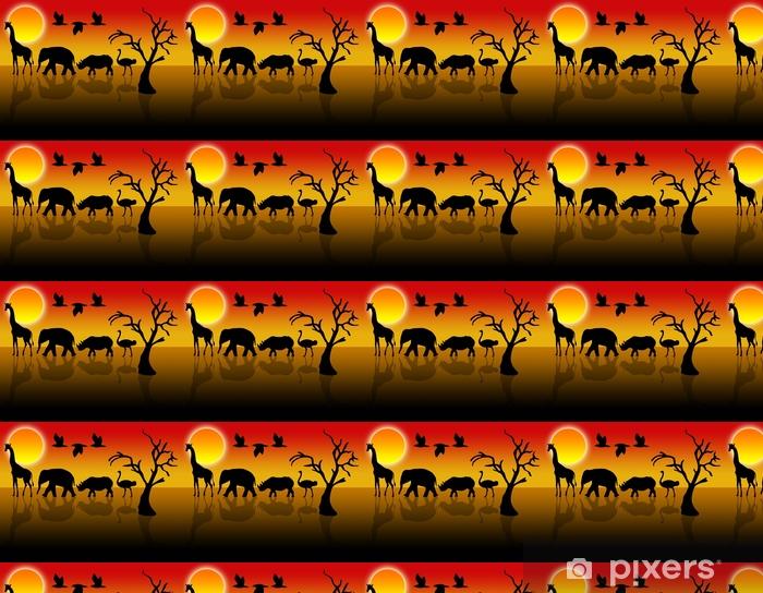 Papier peint vinyle sur mesure Tiere in der wüste - Animaux