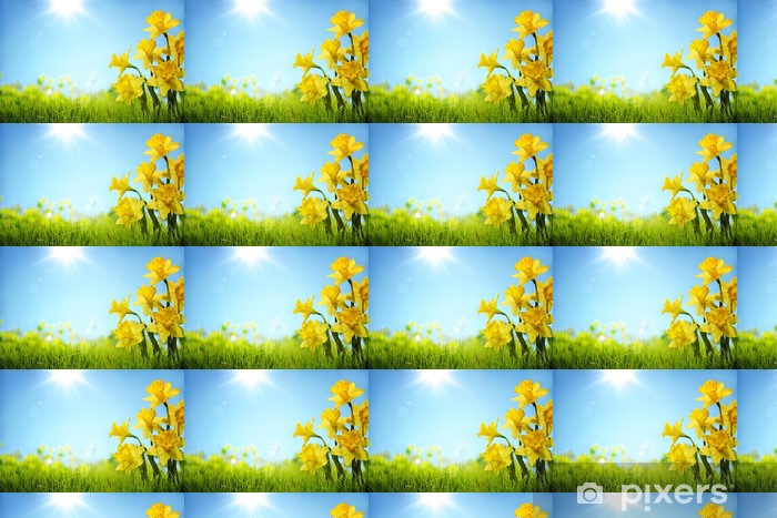 Daffodil flowers in the field Vinyl custom-made wallpaper - Flowers