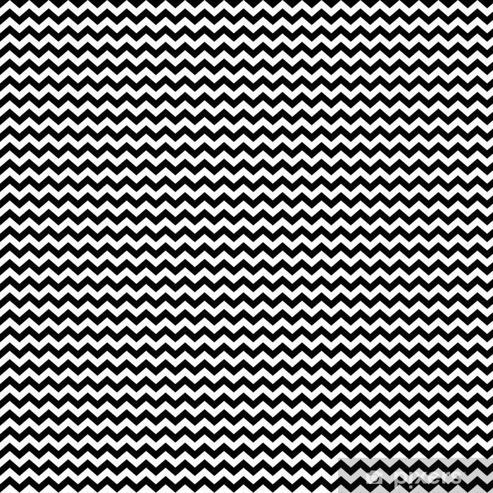 Seamless Zig Zag Pattern In Black And White Wallpaper Vinyl Custom Made