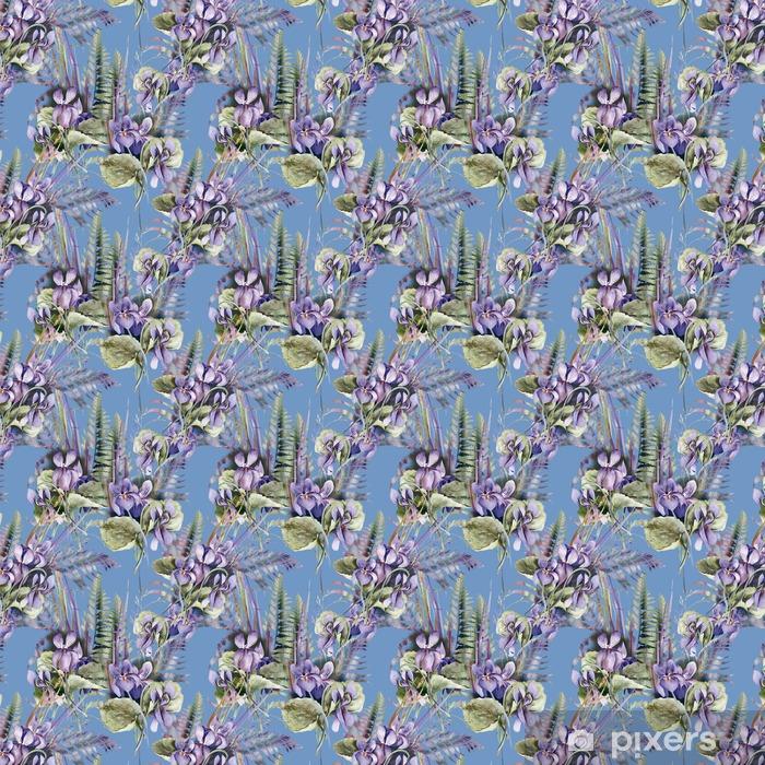 Viola Seamless Pattern Vinyl custom-made wallpaper - Hobbies and Leisure