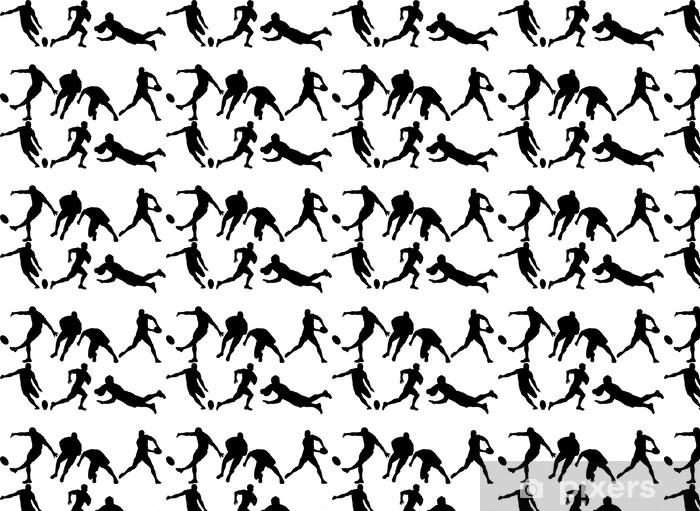 Papier peint vinyle sur mesure 6 silhouettes de rugby - Sports collectifs